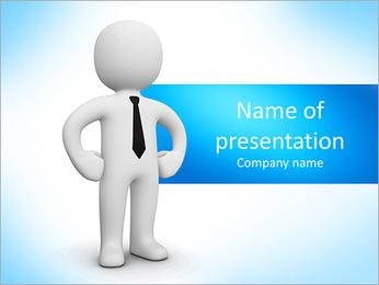 Confiante empresário Modelos de apresentações PowerPoint