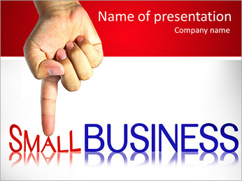 Pressing small business , business concept, isolated PowerPoint Template