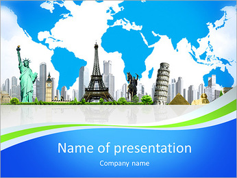 European holidays. traveling background. concept PowerPoint Template