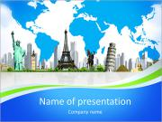 European holidays. traveling background. concept PowerPoint Templates
