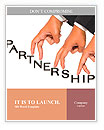 Businessman hand as finger walking for partnership concept Word Templates