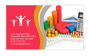 Financial business analytics banking and accounting concept pie financial business analytics banking and accounting concept pie chart bar graph golden coins an business card template fbccfo Images