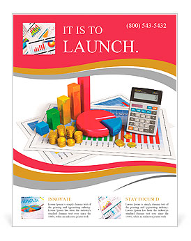 Financial business analytics banking and accounting concept pie financial business analytics banking and accounting concept pie chart bar graph golden coins an flyer templates pronofoot35fo Gallery