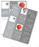 Soccer ball in net Newsletter Template