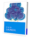 Party balloons blue translucent. Happy birthday anniversary graduation retirement cyan decoration. F Presentation Folder