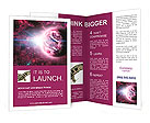 Red planet in beautiful space Brochure Templates