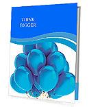 Cyan balloons modern party decoration. Happiness joyful holiday emotion abstract. Birthday celebrati Presentation Folder