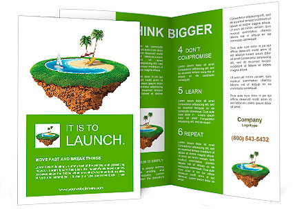 planet brochure template - personal resort on little planet concept for travel