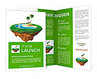 Personal resort on little planet. Concept for travel, holiday, hotel, spa, resort design. Tiny islan Brochure Template