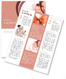 Young mother with her baby in a white towel Newsletter Templates