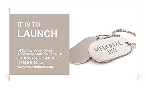 3D Illustration of Dog Tags Business Card Template