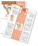 Two beautiful smiling girl in bikini Newsletter Template
