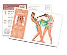 Two beautiful smiling girl in bikini Postcard Template