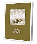 Beautiful silver background with wedding rings and stars Presentation Folder