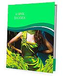 Sensual beautiful woman in green dress and paint splash Presentation Folder
