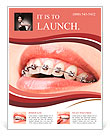 Teeth with braces Flyer Template