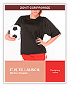 Woman with soccer ball Word Templates