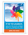 Color pinwheel against summer sky Ad Template