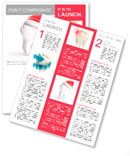 Tooth santa hat isolated on a white background Newsletter Templates