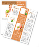 Blond woman eat green apple Newsletter Template