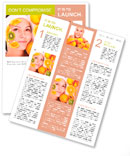 Natural homemade fruit facial masks . Isolated. Newsletter Template