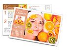 Natural homemade fruit facial masks . Isolated. Postcard Templates