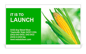 Corn field Business Card Template