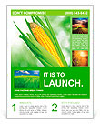 Corn field Flyer Template
