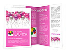 Flying colorful balloons on a white background Brochure Templates