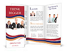 Group of professional business people with banner. Isolated over white background. Brochure Templates