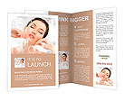 Portrait of a beautiful healthy girl Brochure Template