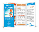 Young woman with wet skin and with a snorkel standing on sand and going to swim in clear sea Brochure Templates
