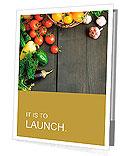 Abstract design background vegetables on a wooden background Presentation Folder