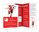 Photo of a footballer or soccer player cut out on a white background,. Brochure Templates