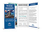 Tower Bridge wit city cruise in London, UK Brochure Templates