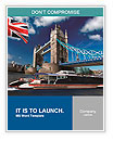 Tower Bridge wit city cruise in London, UK Word Templates