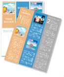 Fun day at the beach with goggles and beach ball Newsletter Templates