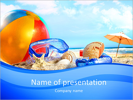 Fun day at the beach with goggles and beach ball powerpoint fun day at the beach with goggles and beach ball powerpoint templates toneelgroepblik Choice Image