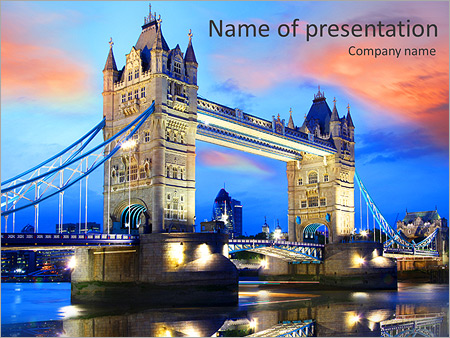 Tower bridge in the evening in london uk powerpoint template tower bridge in the evening in london uk powerpoint template toneelgroepblik Image collections