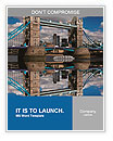 Famous Tower Bridge in London, UK Word Templates