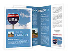 An American road sign with sky background and copy space for your message, Made In The USA Brochure Templates