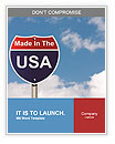 An American road sign with sky background and copy space for your message, Made In The USA Word Templates