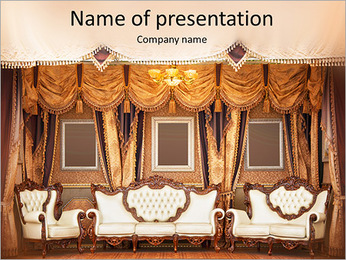 Beautiful Old Styled Interior PowerPoint Template