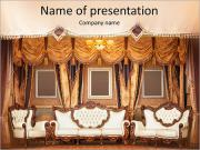 Beautiful Old Styled Interior PowerPoint Templates