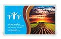 Landscape at sunset Business Card Template