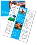 Landscape at sunset Newsletter Templates