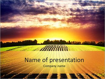Paysage au coucher du soleil Modèles des présentations  PowerPoint