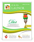 Fresh mixed vegetables on fork with measuring tape Flyer Template