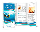 Underwater shoot of a young lady snorkeling and doing skin diving in a tropical sea Brochure Templates