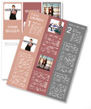 Concept about business leaders. teamwork. Newsletter Template